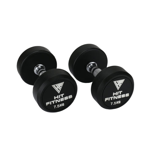 HIT FITNESS Round Rubber Dumbbells | 7.5kg Image McSport Ireland