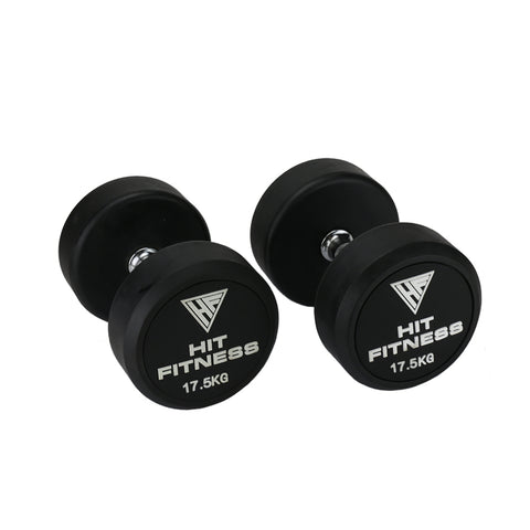 HIT FITNESS Round Rubber Dumbbells | 17.5kg Image McSport Ireland