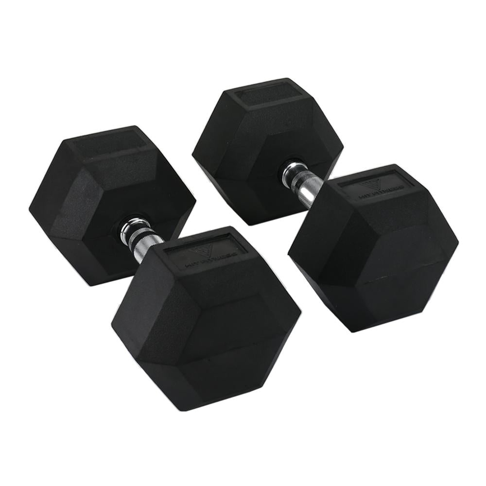Hit Fitness Rubber Hex Dumbbells | 42.5kg Image McSport Ireland