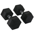 Hit Fitness Rubber Hex Dumbbells | 50kg Image McSport Ireland
