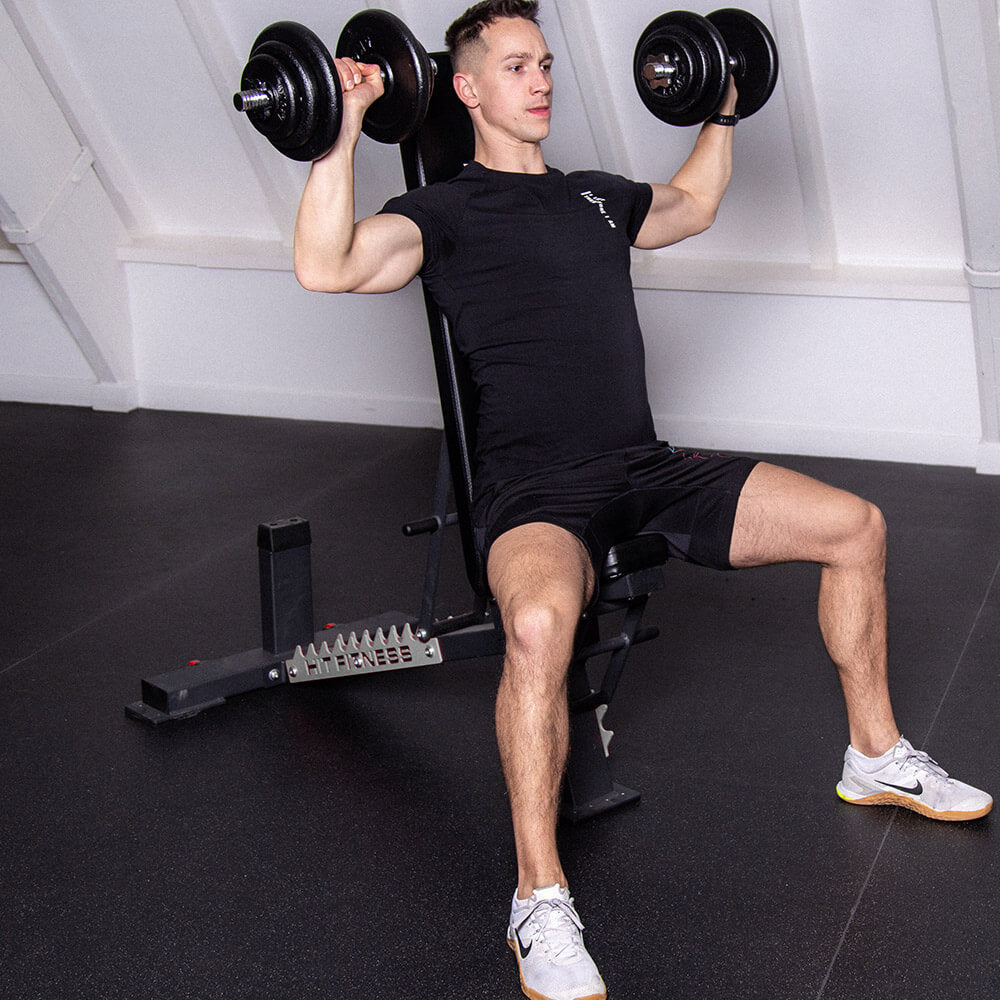 HIT FITNESS Commercial Weight Bench Image McSport Ireland