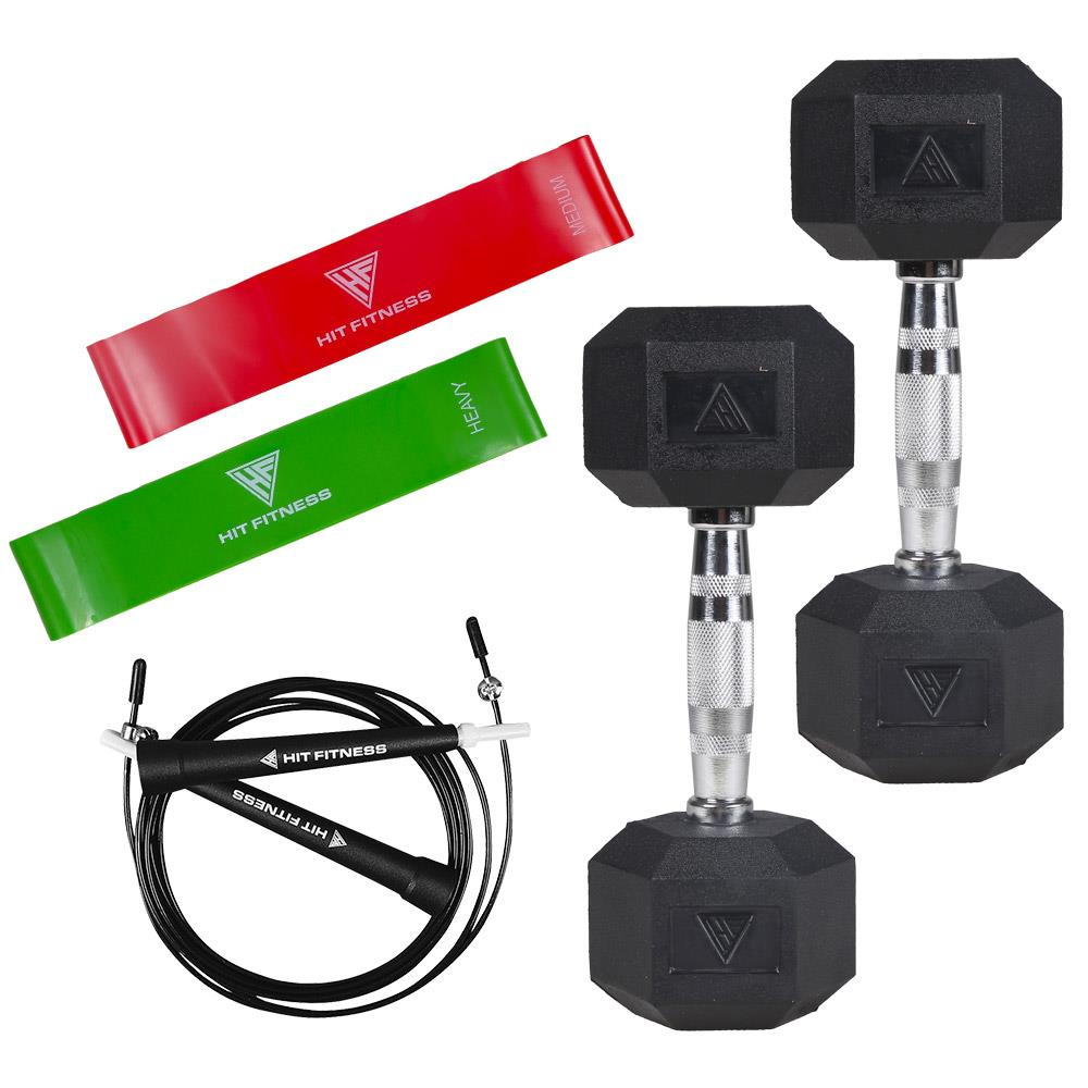 Hit Fitness Home Workout Package with 4kg Dumbbells Image McSport Ireland