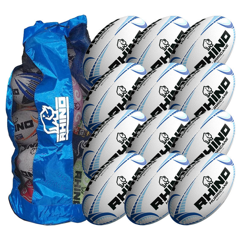 Rhino Hurricane Training Ball 12 Pack with Carry Bag | Size 5 Image McSport Ireland