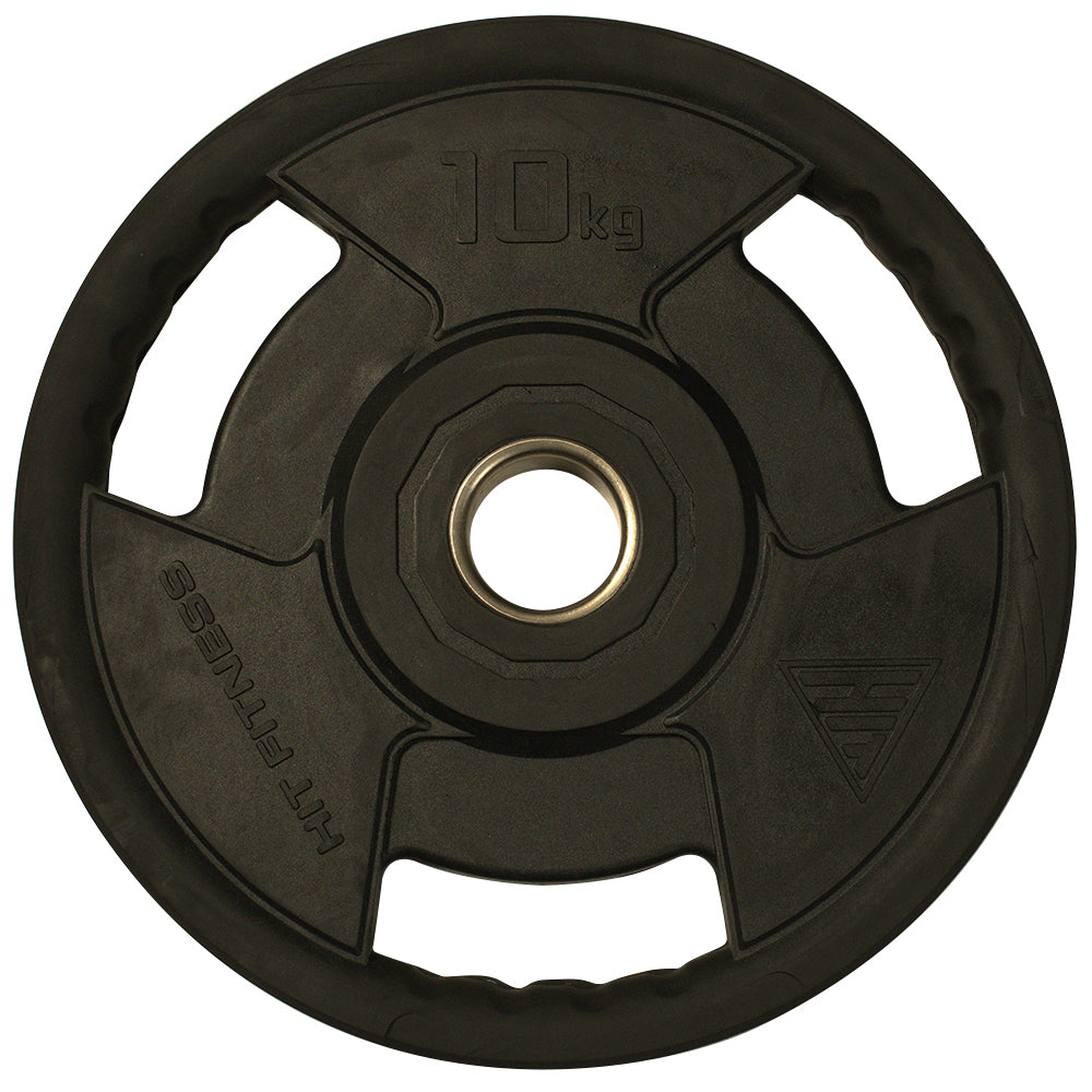 Hit Fitness Rubber Radial Olympic Weight Discs | 10kg Image McSport Ireland