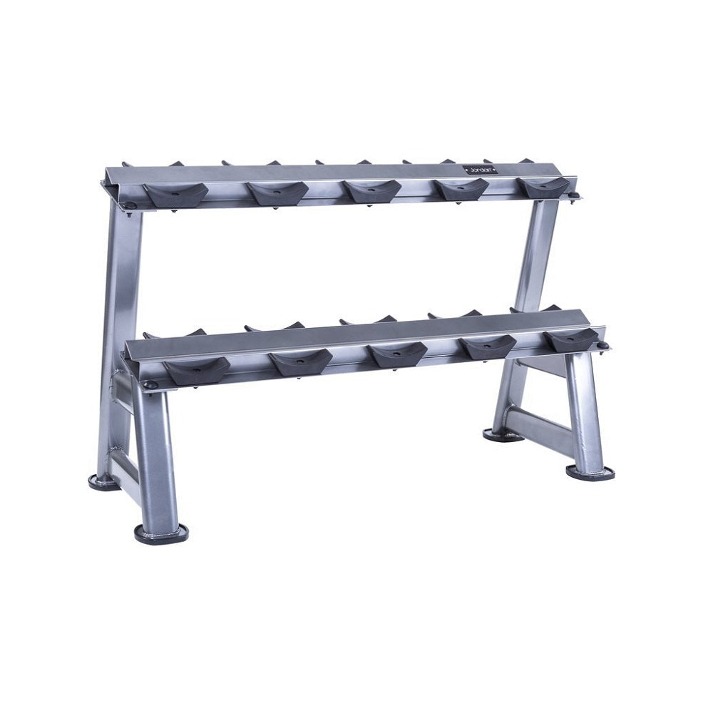 Jordan Fitness 2 Tier Dumbbell Rack with Saddles (Holds up to 5 Pairs) Image McSport Ireland