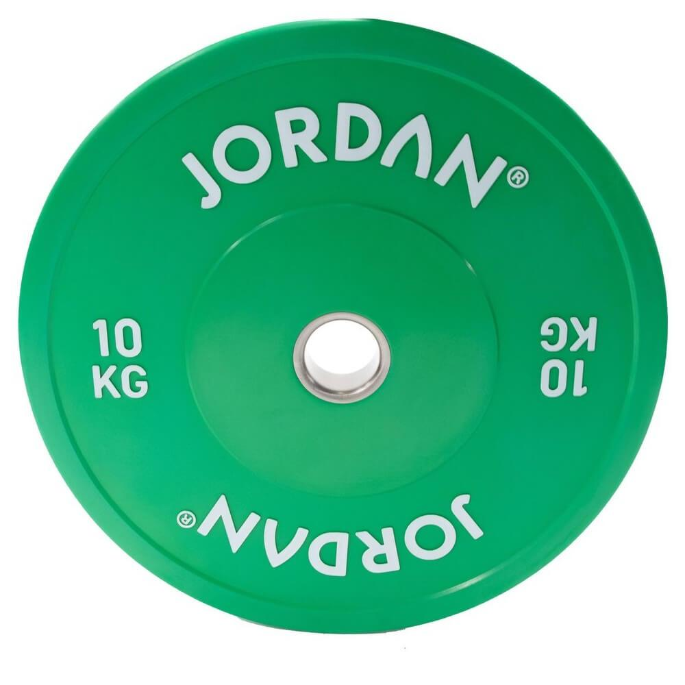 Jordan Fitness Coloured Rubber Bumper Plate 10kg