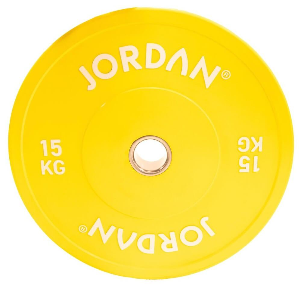 Jordan Fitness Coloured Rubber Bumper Plate 15kg