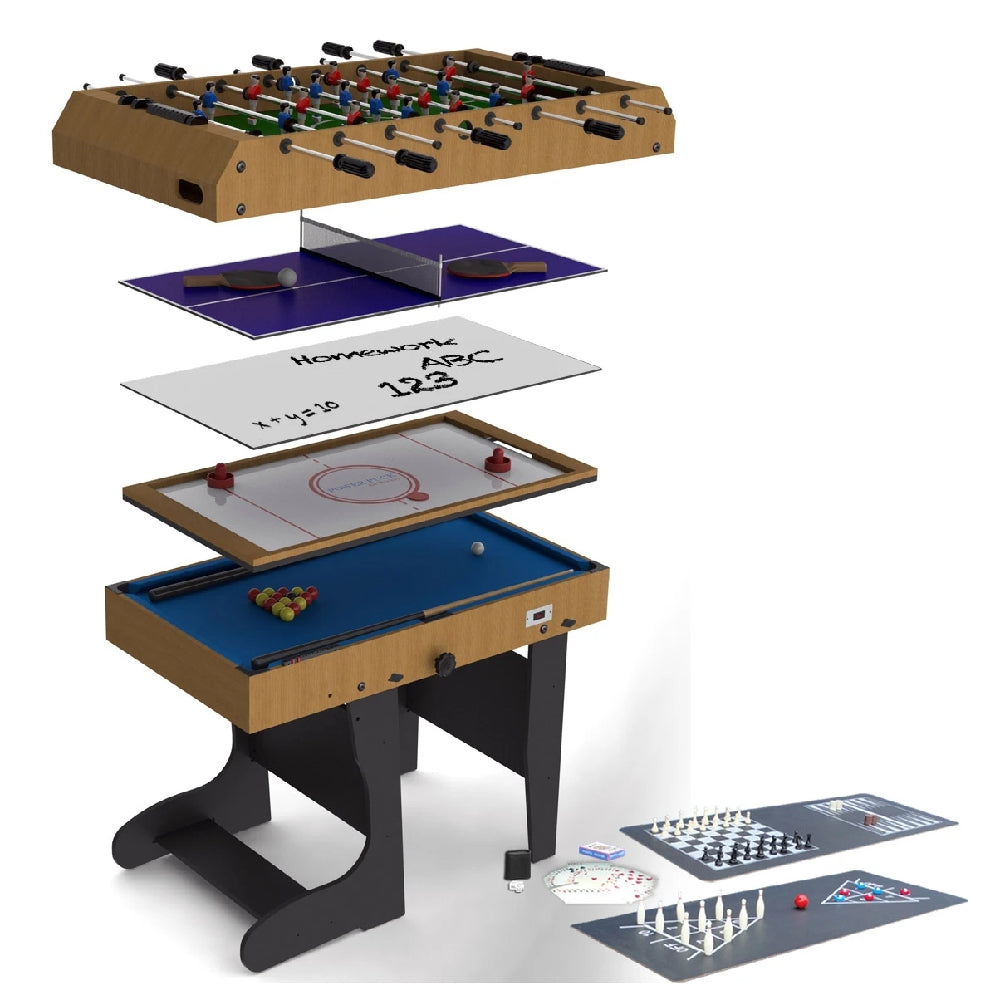 Picture of: Riley 4ft 12 In 1 Folding Multi Games Table Mcsport Ireland