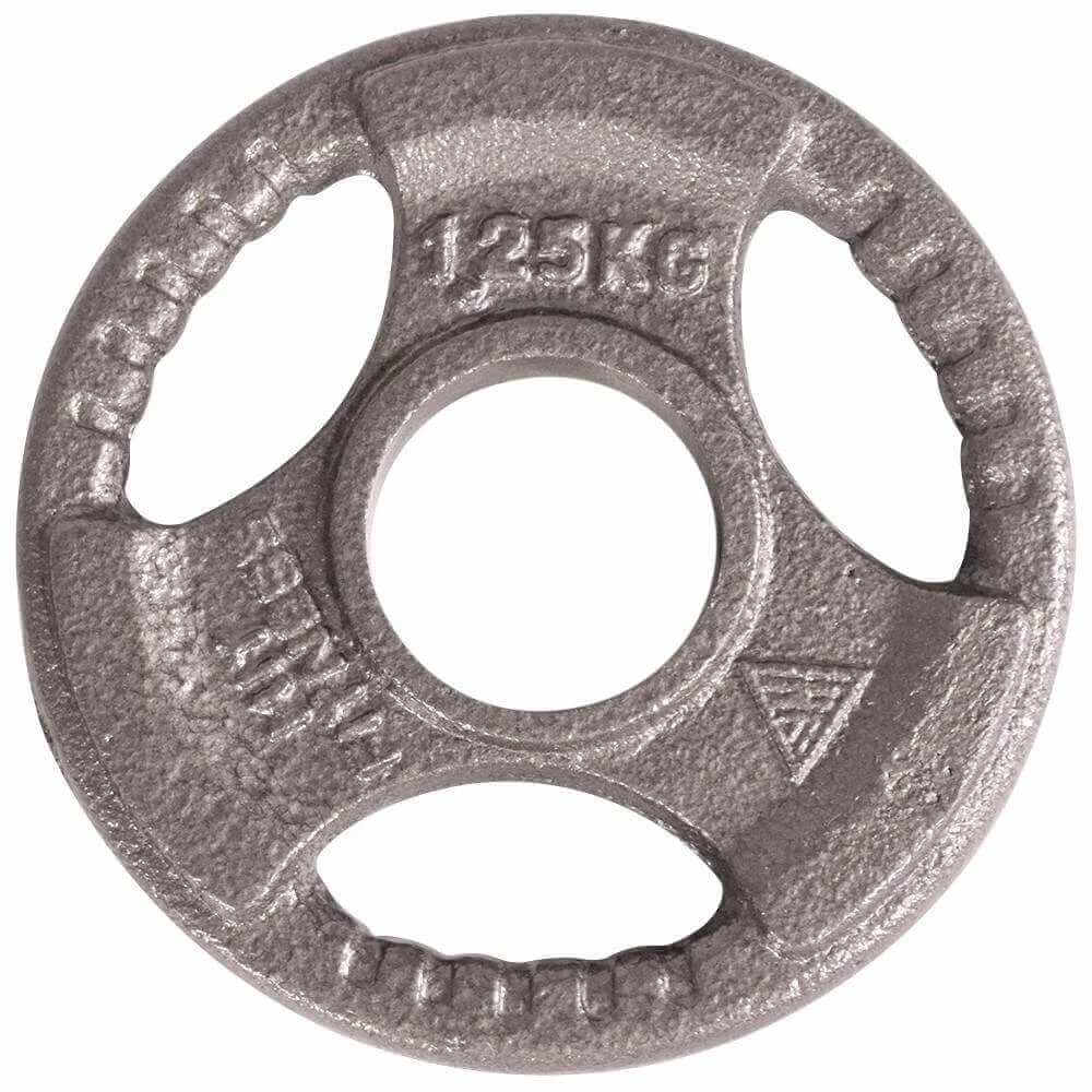 Olympic Cast Iron Tri-Grip Disc | 1.25kg Image McSport Ireland