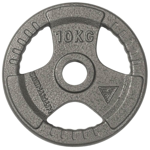 Olympic Cast Iron Tri-Grip Disc | 10kg Image McSport Ireland