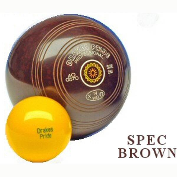 Drakes Pride Indoor & Outdoor Professional Bowls | Speckled Brown Image McSport Ireland