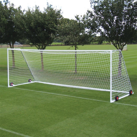 Harrod Heavyweight Freestanding Steel Senior Football Goals | 24ft x 8ft Image McSport Ireland