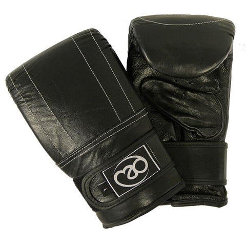 Fitness Mad Leather Pro Bag Mitts Image McSport Ireland
