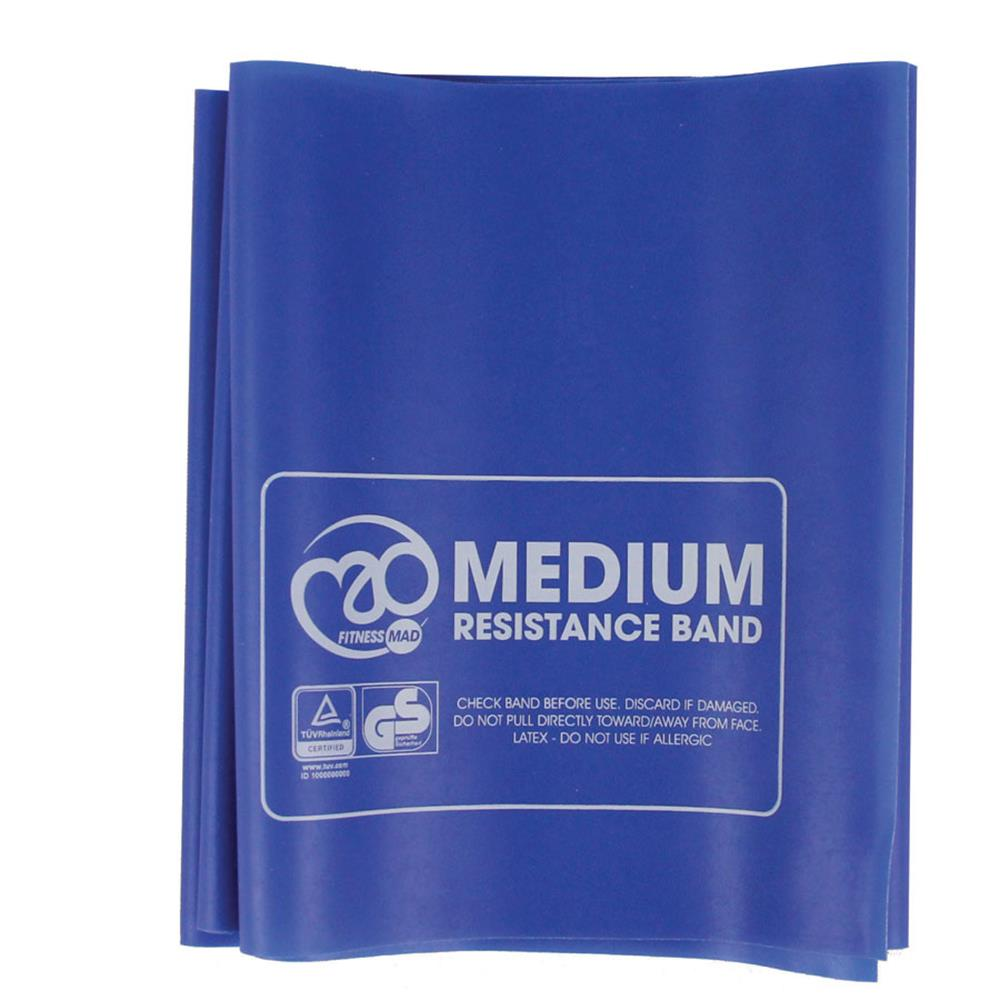 Fitness-Mad Resistance Band & Guide Pack | Medium | Royal Blue Image McSport Ireland