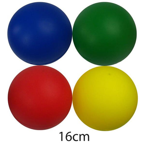 Tuftex Coated Foam Balls Assorted Colours | Pack of 12 | 160mm Image McSport Ireland