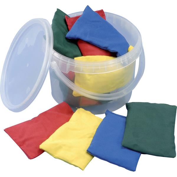 Tuftex Bean Bags Bucket Assorted Colours | Pack of 12 Image McSport Ireland