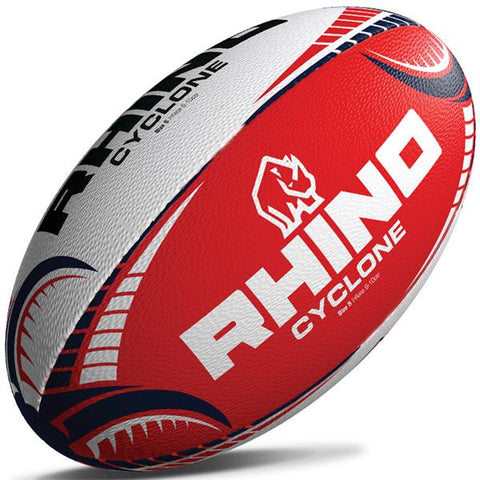 Rhino Cyclone Training Rugby Ball | Red Image McSport Ireland