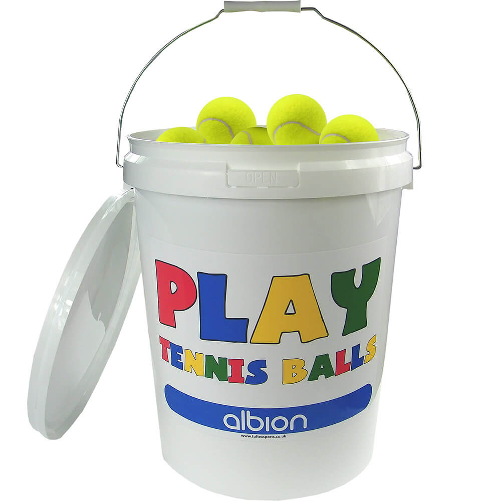 Tuftex Play Yellow Tennis Ball Bucket (96 Balls)