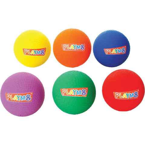 Playm8 (Set Of 6) 20cm Playground Balls Image McSport Ireland