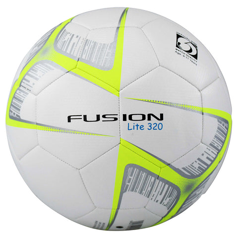 Precision Training Fusion Lite Match Quality Training Football | 320g (White/Yellow) Image McSport Ireland