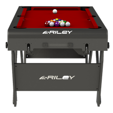 Riley 5ft Rolling Lay Flat Folding Pool Table | Red Image McSport Ireland