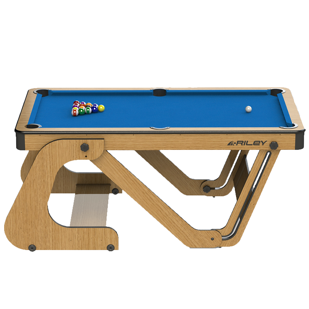 Riley 6ft Vertical Folding Pool Table | Blue Image McSport Ireland