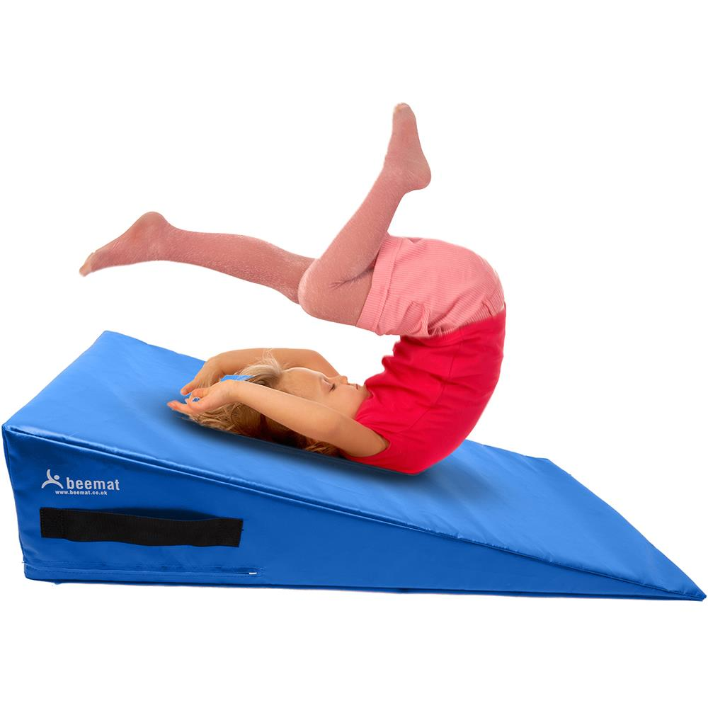 Beemat Gymnastic Mini Incline Wedge | Sky Blue Image McSport Ireland