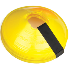 Precision Training Sleeved Set of 10 Saucer Cones - Yellow Image McSport Ireland