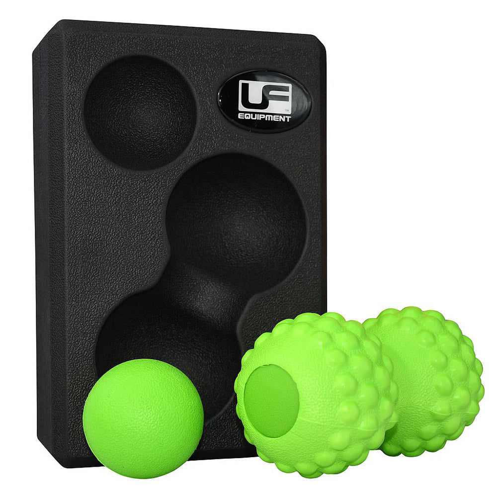 UFE Massage Balls & Yoga Block 3 in 1 Set Image McSport Ireland