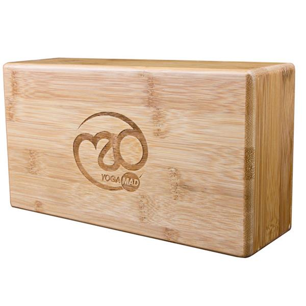 Fitness Mad Hollow Bamboo Yoga Brick Image McSport Ireland