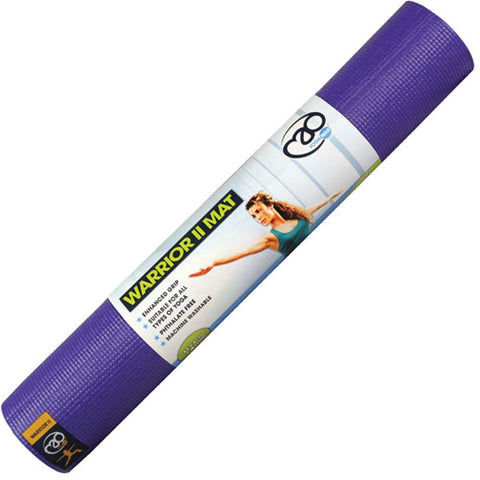 Fitness-Mad Warrior II Yoga Mat | 4mm (Purple) Image McSport Ireland