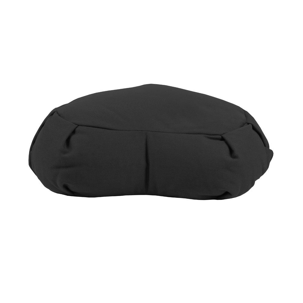 Fitness Mad Pleated Crescent Zafu Cushion - Black Image McSport Ireland