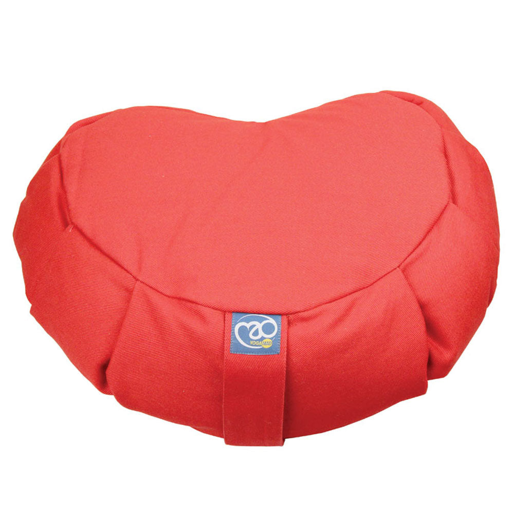 Fitness Mad Pleated Crescent Shaped Zafu Cushion | (Burgundy) Image McSport Ireland