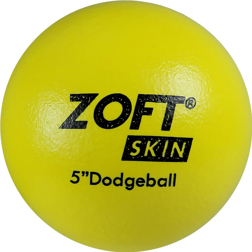 "First-Play Zoftskin 5"" Yellow Dodgeball"