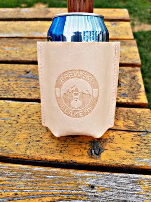 Leather Brewski Blazer Koozie