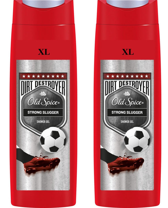 Jumbo 400ml Old Spice Dirt Destroyer Shower Gel Strong Slugger (Pack of 2)