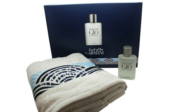 Armani Acqua Di Gio 100ml Edt + Towel Mens Gift Set