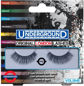 Underground Original London False Eyelashes Volume 009 + Adhesive