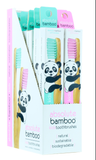 Absolute Bamboo Kids Toothbrush With Soft Bristles Natural Sustainable Eco-Friendly