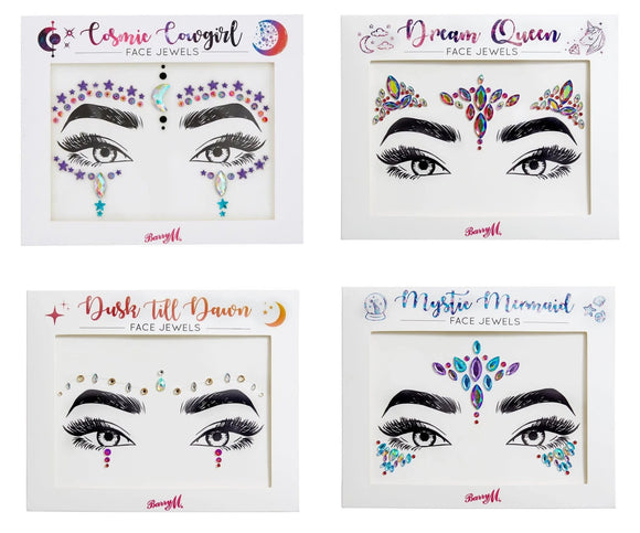 Barry M Adhesive Face Jewels - Multiple Designs