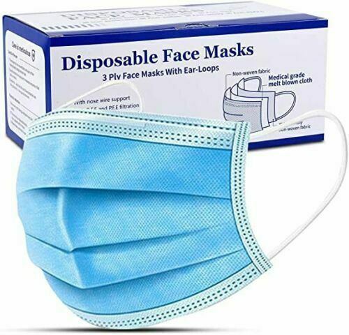 Face Mask Surgical Disposable Mouth Cover 3ply Breathable