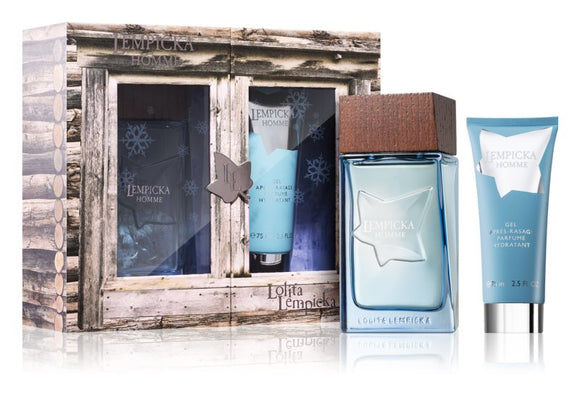 Lolilta Lempicka Gift Set Mens Homme 100ml Edt Spray +75ml Aftershave Gel