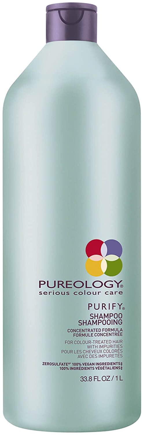 Pureology Purify Shampoo 1 Litre For Colour Treated Hair With Impurities - Vegan