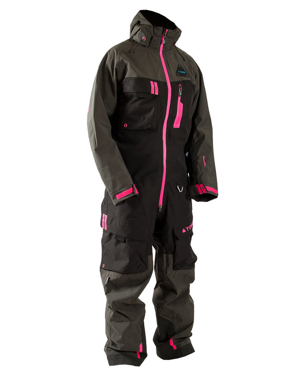 Tiro Mono Suit, Dark Ink Pink