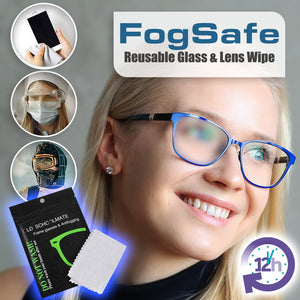 FogSafe Reusable Glass & Lens Wipe