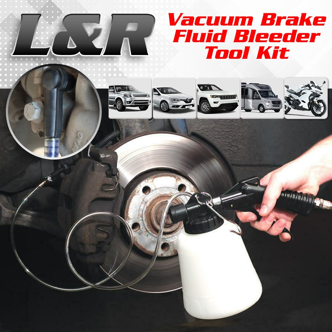 L&R Vacuum Brake Fluid Bleeder Tool Kit