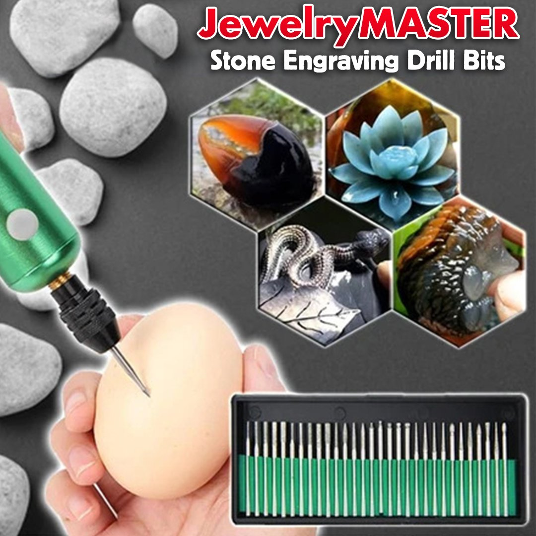 JewelryMASTER Stone Engraving Drill Bits
