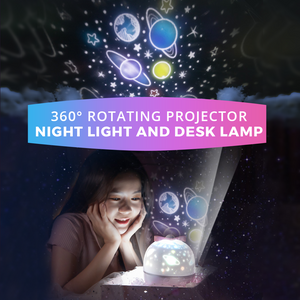 360° Rotating Projector Night Light and Desk Lamp