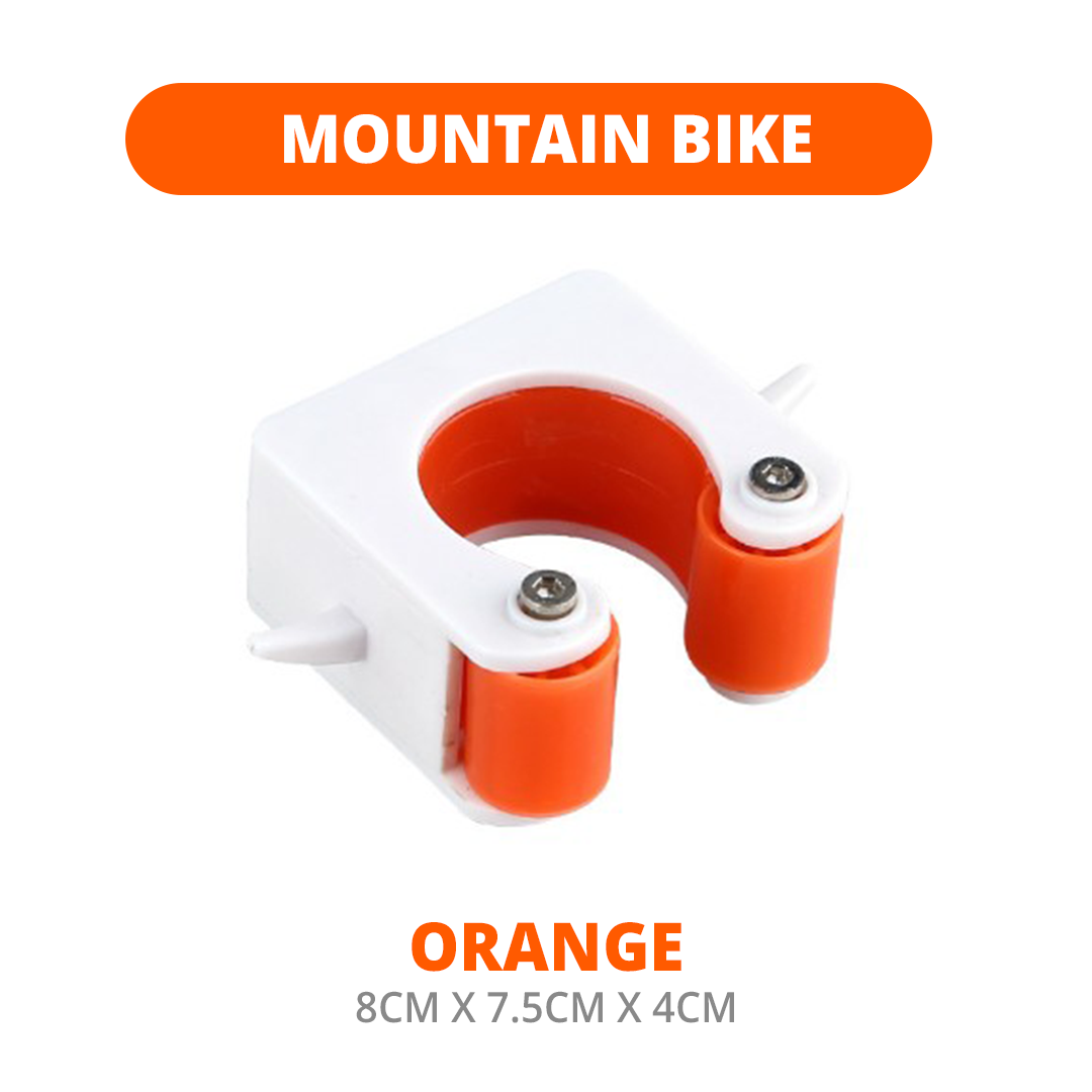 Space Saving Bike Wall Mount with Helmet Hanger