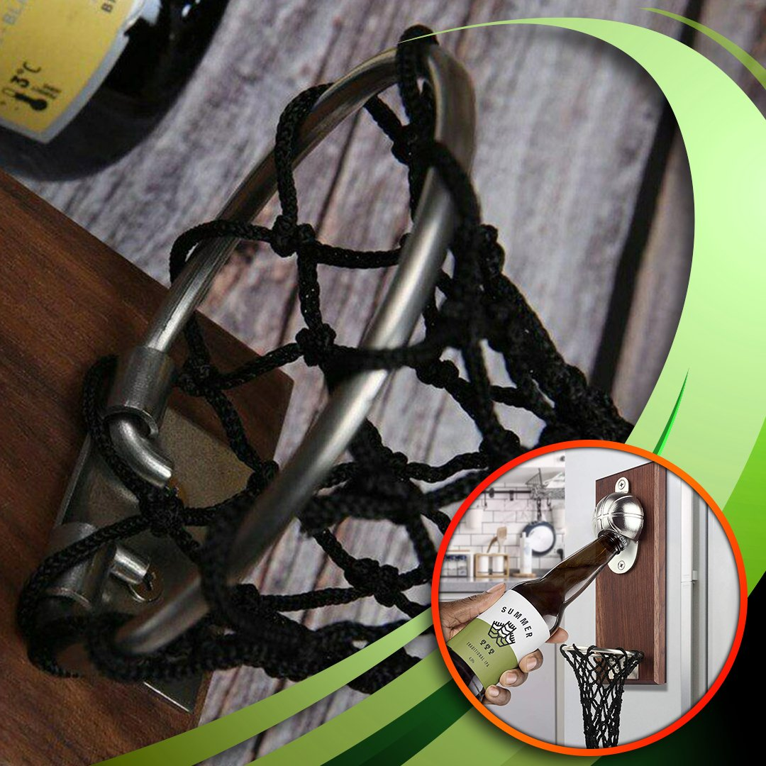 SportsQ Wall Mounted Basketball Bottle Opener